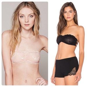 Intimately FP essential lace bandeau bra bundle 2